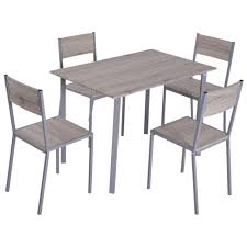 Homcom 5 Piece Dining Table Chair Set Modern Counter Height