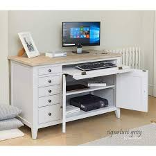 Image Australia Everyday Low Prices Roseland Furniture Signature Grey Hidden Home Office Desk Roseland Furniture