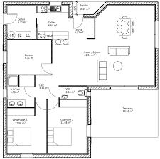 Plan D Une Maison Plein Pied De 100m2 Maison Modernes