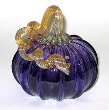 purple pumpkin by ken hanson and ingrid hanson art glass sculpture artful home