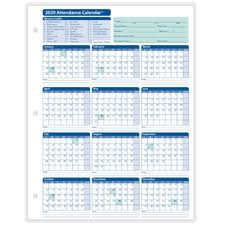 Free 2020 Employee Attendance Calendar Hrdirect Attendance Tracking Track And Manage Employees