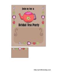 Tea Party Free Printables Free Printable Bridal Shower Tea Party Invitations