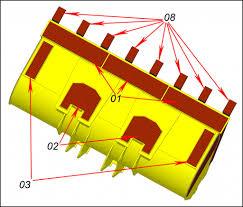 <b>Комплект</b> износостойких <b>накладок на</b> ковш погрузчика