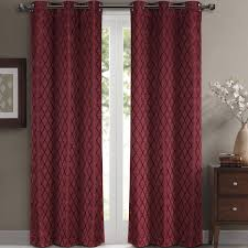 com willow jacquard burdy grommet blackout window curtain panels pair set of 2 panels 42x84 inches each by royal hotel home kitchen