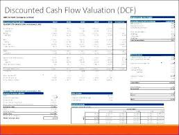 Unique Dcf Excel Template And Discounted Cash Flow Spreadsheet
