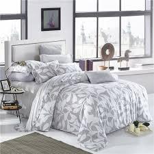 elegant fl and leaves print bedding set queen king size duvet