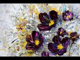 simple painting flowers acrylic texture