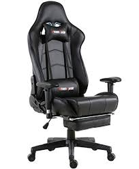 leather office chair.  Leather Storm Racer Gaming Chair Ergonomic Racing Style PU Leather Office Video  Game With Footrest  On