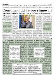 Consulenti del Lavoro - Italia Oggi del 3 novembre 2020