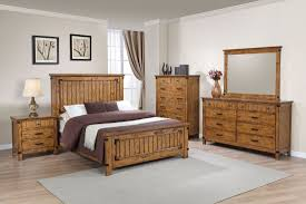 Coaster Brenner Panel Bedroom Set In Rustic Honey