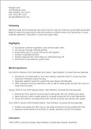 Resume Templates: Guest Services Associate