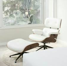 now manhattanhomedesign com white lounge chair and ottoman html eamesloungechair replica midcentury furniture palisander wood
