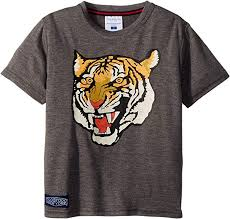 Toobydoo Size Chart Amazon Com Toobydoo Baby Boys Roar Grey Tiger Tee