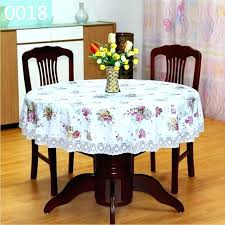 round table cover with elastic covers past cloth waterproof fl printed lace edge plastic anti outdoor