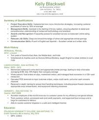 sample resume qualifications skill set in resume examples