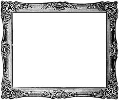 black and gold frame png. Fancy Painting Frame Black And White Clip Art Google Search Throughout Picture Frames Design 2 Gold Png