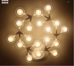 modern brief acryl wall lamp 13heads 13w creative diy white flower led wall light for