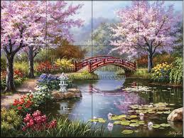 SK-Japanese Garden - Tile Mural