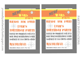 nerf party invitations template printable templates nerf party invitations template nerf invite a4 sample fmcmsa