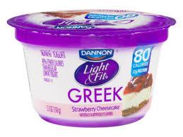 Light Fit Nonfat Greek Yogurt Strawberry Cheesecake