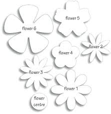 Paper Flower Templates Free Download Gorgeous Ways To Make Paper Flowers Graphic Design Templates For