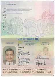 Us Passport Template Psd Australia Passport Template Psd V2