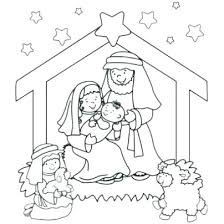 Free Nativity Scene Coloring Pages 2288655