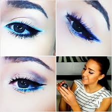 3 diffe ways to wear bright colored eyeliner eyeliner makeup tutorial you