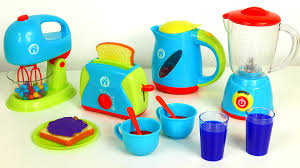 just like home kitchen appliance set playset blender mixer toaster coffee kettle cooking breakfast yip toys