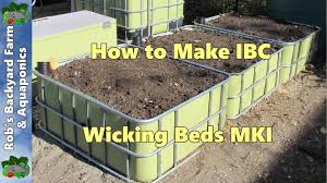 self watering garden bed. Fine Bed Wicking Beds How To Make IBC Self Watering Garden Beds MKI With Bed F
