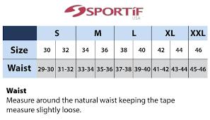 Size Chart Sizing Information Sportif Com