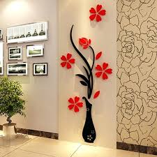 beautiful flower mirror wall decals stickers art home room vinyl decor unbranded canada