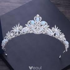Luxury / <b>Gorgeous Silver</b> Tiara Necklace Earrings <b>Bridal</b> Jewelry ...