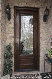 leaded beveled glass front entry door