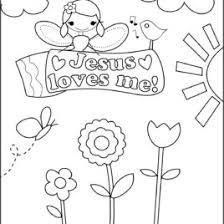 Small Picture Jesus Loves Me Coloring Page For Toddlers Archives Mente Beta