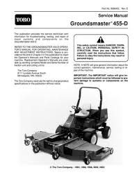 93804sl pdf groundsmaster 455 d rev e 2003 by negimachi part no 93804sl rev e service manual groundsmaster