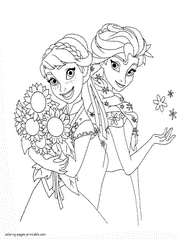 Elsa and anna are such favorites disney princesses for little girls all over the world. Frozen Coloring Pages Free Printable Pictures For Girls