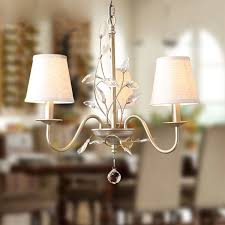lighting ceiling lights chandeliers electroplating european retro style chandelier iron crystal fabric with 3 lights