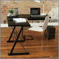 Furniture fice L Shape Glass Desk Modern New fice With