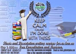 Thesis and Dissertation Consultancy Thesis and Dissertation Guidelines