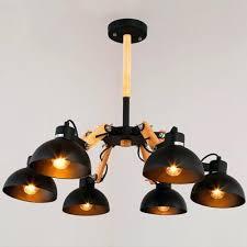black 5 light chandelier w industrial matte black 5 light led chandelier with spun wood accents black 5 light chandelier