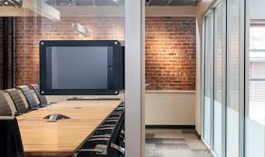 for glass walls with solid frames there is a conference room variation of the side mount frame with a side compartment for poe power over ethernet