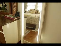diy lighted leaning mirror you