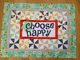 Choose Happy {quilt pattern} & This would quilt would be darling on your sewing room wall or as a sweet  gift for a friend. I'm going to sew up another one soon!!! Adamdwight.com