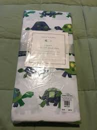 pottery barn kids organic turtle crib fitted sheet nwt