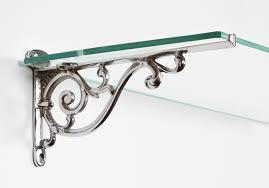 chrome glass shelf brackets home decorations glass shelf