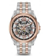 bulova mens rose gold 98a166 watch watchco com bulova 98a166 rose gold mens