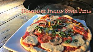 Italian Outdoor Kitchen Grilling Pizza On The Weber Pizza Stone Italian Style Pizza