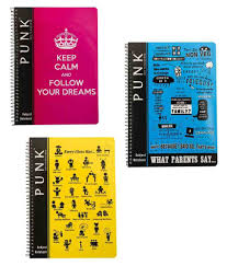 punk a4 spiral notebook 600 pages six subject pack of 3