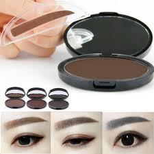 eyebrow powder. makeup eyebrow gel brow stamp grey brown powder seal waterproof eyes cosmetic tools 3 colors